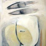 Kopf – Augen, 2004, Acryl/Schellack auf Holzfaserplatte, 40 x 60 cm