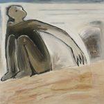draußen, 2004, Acryl/Schellack auf Holzfaserplatte, 80 x 80 cm