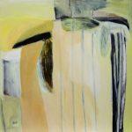 Nach einiger Zeit, 2005, Acryl/Schellack auf Holzfaserplatte, 80 x 80 cm