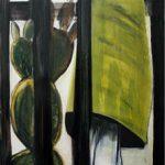 Zuhause 3, 2008, Acryl/Kohle/Schellack auf MDF, 240 x 80 cm