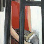 Zuhause 1, 2008, Acryl/Kohle/Schellack auf MDF, 240 x 80 cm