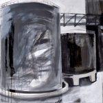 Speicher 2, 2009, Acryl/Kreide/Schellack auf MDF, 100 x 120 cm