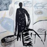 Gute Reise, 2011, Acryl/Graphit/Schellack auf MDF, 180 x 210 cm