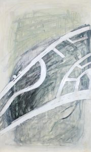 Straßen Räume (Salzgitter-Bad 1), 2012, Wachs/Acryl/Graphit auf MDF, 50 x 30 cm