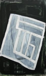 Straßen Räume (Salzgitter-Lebenstedt 2), 2012, Wachs/Acryl/Graphit auf MDF, 50 x 30 cm