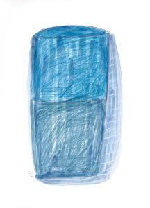 Wie tief ist das Meer (3), 2012, Wachs/Farbstift/Kohle/Graphit auf Papier, 33 x 24 cm