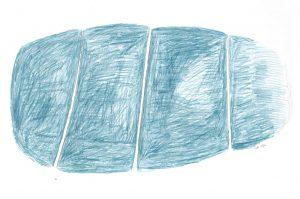 Wie tief ist das Meer (4), 2012, Farbstift/Graphit auf Papier, 24 x 33 cm