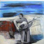 Chitarra Battente, 2013, Acryl/Schellack auf MDF, 80 x 80 cm