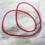Routine, 2013, Acryl/Schellack auf MDF, 80 x 90 cm