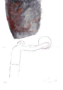 Tamburello, 2013, Aquarell/Graphit auf Papier, 30 x 21 cm