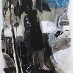 Wanderin, 2015, Öl auf transparenter Folie, 120 x 90 cm
