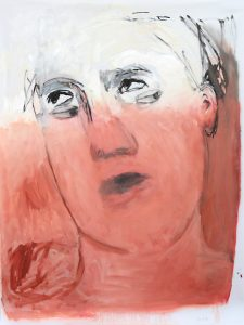 unausweichlich, 2016, Öl auf transparenter Folie, 120 x 90 cm