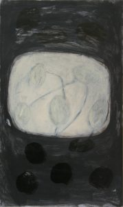 Juni 2, 2010, Acryl/Graphit/Kohle/Schellack auf MDF, 50 x 30 cm