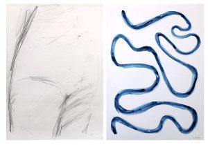 Memory_Schoss, 2015, Wachs/Graphit auf Papier, 2 Blätter à 29,7 x 21 cmà